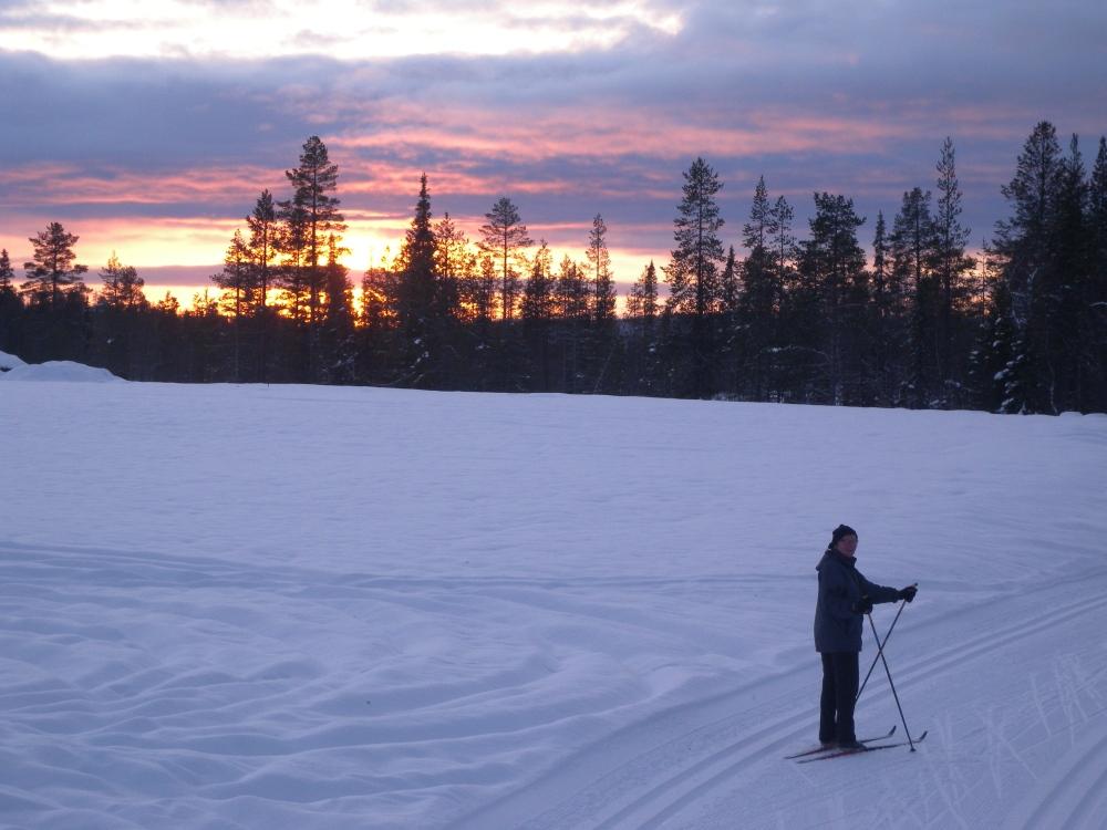 S hiihtoladulla Ylläksellä.