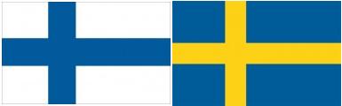 Suomen ja Ruotsin lippu