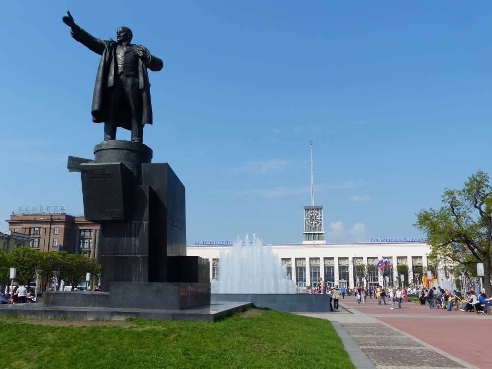 Lenin Suomen asemalla.