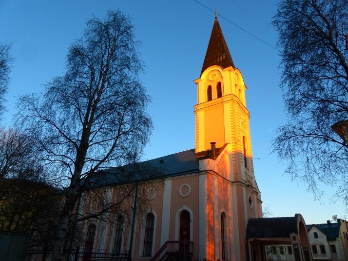 Entinen luterilainen kirkko, nykyinen konserttisali Arkangelissa.