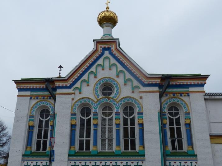 Nikolain kirkon ikkunat.