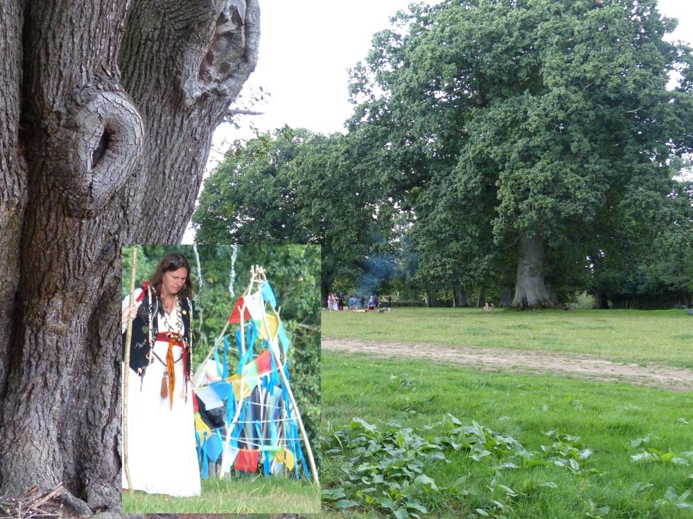 Christiana tuvalaistunnelmissa Gaunts Housen tammipuistossa.