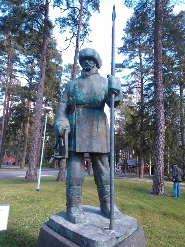 Lallin patsas Köyliössä.