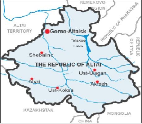 Matkasimme tasavallan länsirajalta Kazakstanin puolelta etelään Ust-Koksan alueelle ja sieltä edelleen itärajan tuntumaan  Tsulyshman-joen laaksoon. Teltetskoe-järven (Kultajärvi) ylitimme moottoriveneellä. Gorno-Altaiskin kaupungista lensimme Moskovan kautta kotiin.