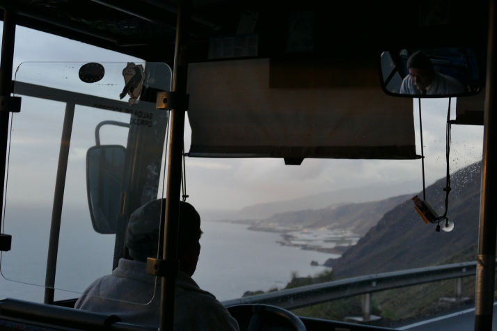 Bussilla tulivuorille La Palma