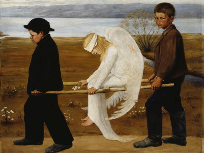 Haavoittunut enkeli. Hugo Simberg.
