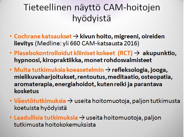 cam-tutkimukset